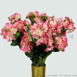 深圳仿真花市场  仿真花厂家居家装饰大花海棠花批发