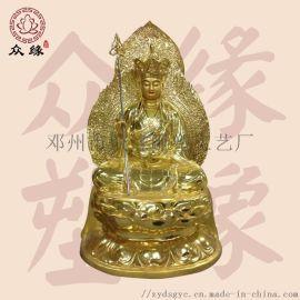 地藏王佛像厂家 谛听地藏王菩萨 彩绘地藏王佛像