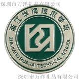 锌合金金属徽章定制 烤漆学校校徽企业胸章
