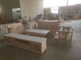 美碩傢俱新中式實木沙發禪意組合傢俱