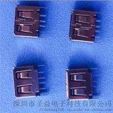 USB 短體立式A母 4P