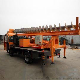 12米履带长螺旋打桩机 螺旋钻机地基打桩机