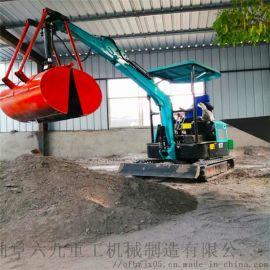 小型开沟机 履带式液压挖掘机价格 六九重工 园林绿