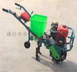 手扶独轮施肥机 玉米地行间播肥微耕机