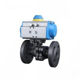 进口气动法兰球阀-调节-法兰-水-气体-四氟