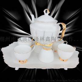 簡約鑲金陶瓷骨質瓷水具004