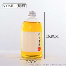 橙汁饮料瓶生产厂家玻璃橙汁果汁瓶