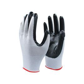 13针涤纶有色光面丁腈手套