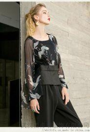 米梵2020春五分袖宽松中长款裙子长沙开服装店