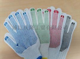 点胶点塑棉纱手套防滑耐磨搬砖防护手套