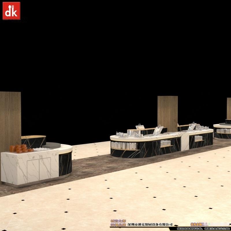定制自助餐台大理石餐台人造石餐台