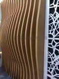 戶外門頭裝飾弧形鋁方通波浪造型鋁方通