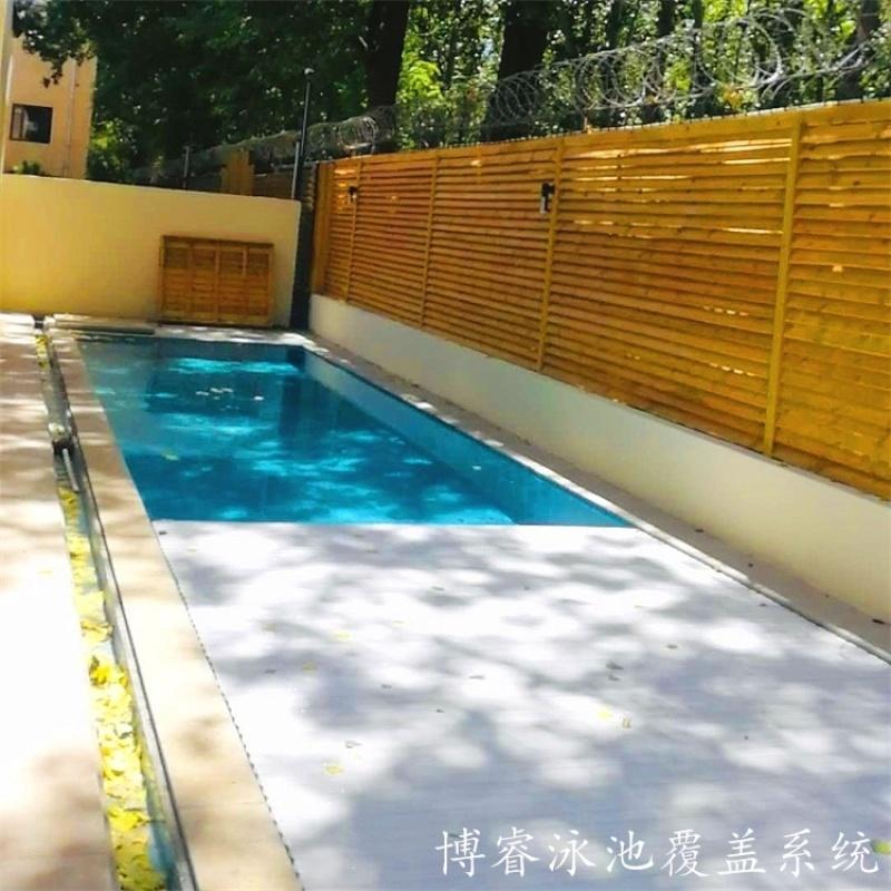 浮条泳池盖厂家    自动泳池盖板  博睿泳池盖