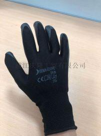 超舒适尼龙丁腈橡胶耐磨防油掌浸胶手套