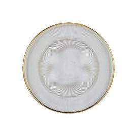 射线彩色玻璃餐盘13英寸