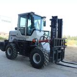 内燃式5吨越野叉车加装铲斗抓头一机多用厂家定制