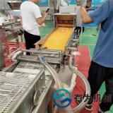 鸡柳裹雪花片设备 400网带多列式上糠机