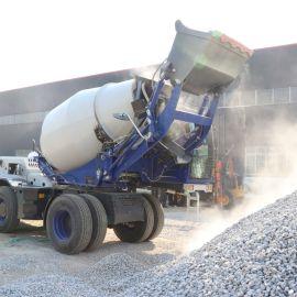水泥自动上料搅拌车 小型混凝土自上料车料