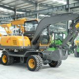 小型轮胎挖掘机 农用全新小型轮式挖掘机 90轮挖