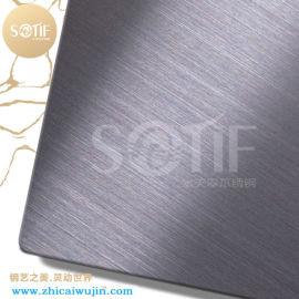 厂家直销304拉丝不锈板材 真空电镀黑钛
