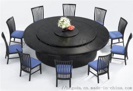 杭州电动圆桌定做 实木餐桌 大理石火锅桌