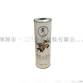 厂家直销500ML有机山茶油铁罐食用油圆罐**