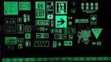 蓄光發光標志-疏散通道導向牌-蓄光發光疏散指示標志