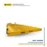 30噸鋼廠轉運鋼渣軌道轉彎車 耐高溫電纜軌道平板車