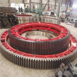 供应2.0米152齿对开式铸钢节能烘干机大齿轮