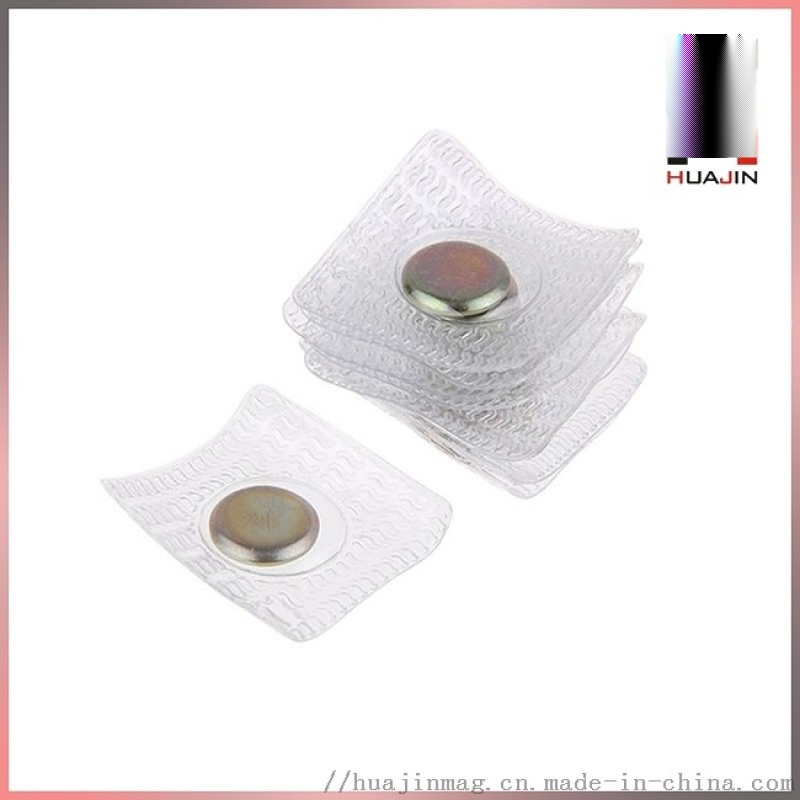 压胶PVC塑胶磁铁 防水磁铁磁扣 强力服装配件磁铁