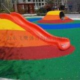 幼儿园操场橡胶颗粒塑胶跑道厂家施工