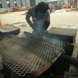 菱形建筑钢板网 脚手架红漆钢板网片