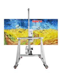 内蒙古多功能壁画背景墙机器施工视频 墙体彩绘机公司