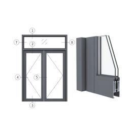 广东兴发铝材创高AL46A系列隔热地弹门