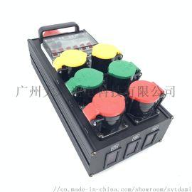 防水插6路16A工业插带空开分接线盒电压表led大屏电源箱