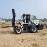 3吨四驱叉车内燃式 沙土地泥泞路况用越野叉车