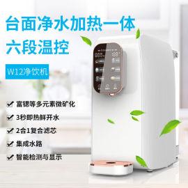 台式免安装净水器加热一体机家用ro反渗透直饮机