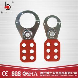 钢制搭扣锁勾1.5寸六联工业安全搭扣锁BD-K02
