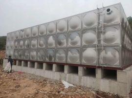 不锈钢储水箱定做 消防人孔水箱 霈凯水箱