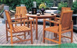 **的园林花园桌椅与植物融为一体-时景家具