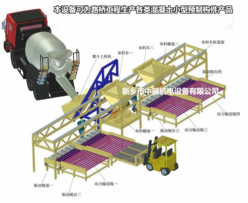 小型混凝土预制构件生产线/护坡砖小预制块设备
