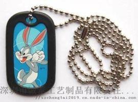 厂家直销宠物牌制作,动漫兔子吊牌定制