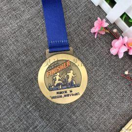 成都马拉松奖牌金属挂牌定制运动会比赛活动奖章
