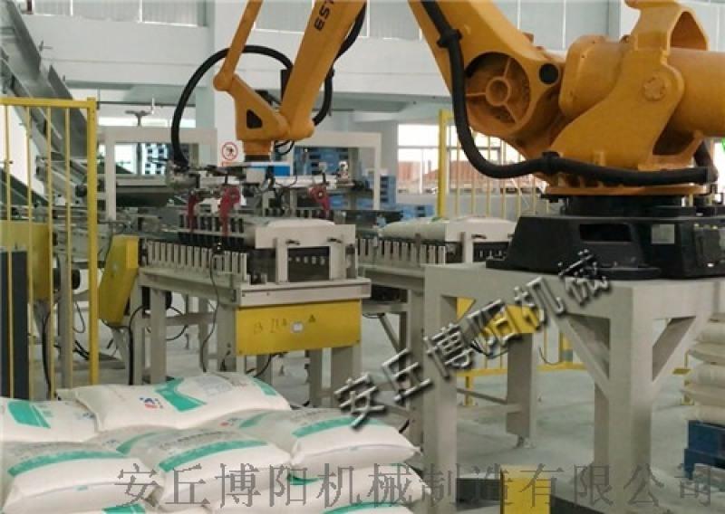 肥料袋式堆垛機 計件自動碼垛設備廠子