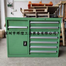 双组钳工柜 重型铁皮柜 加厚零件柜 定做工具柜