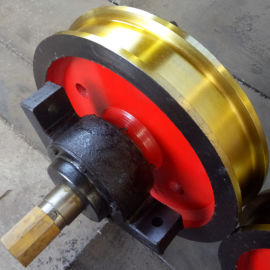 350*100单边车轮组 电动平车轮组 角箱车轮组