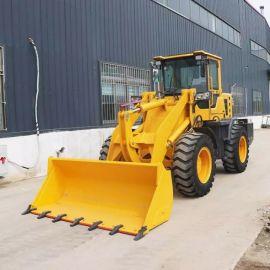 养殖场工地铲土机 农用小型工程铲车 柴油四轮装载机