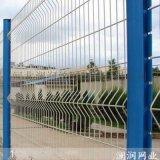 厂区隔离桃型柱围栏网安装