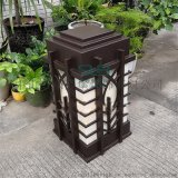 仿雲石矮柱燈房地產特色燈庭院巧克力色柱頭燈