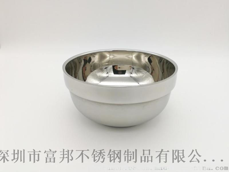 不鏽鋼鉑金碗白金碗學校食堂飯菜湯碗